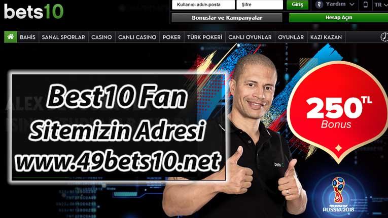 Bets10 Fan Sitesi Adres değişikliğine Gitti ; 49Bets10.Net